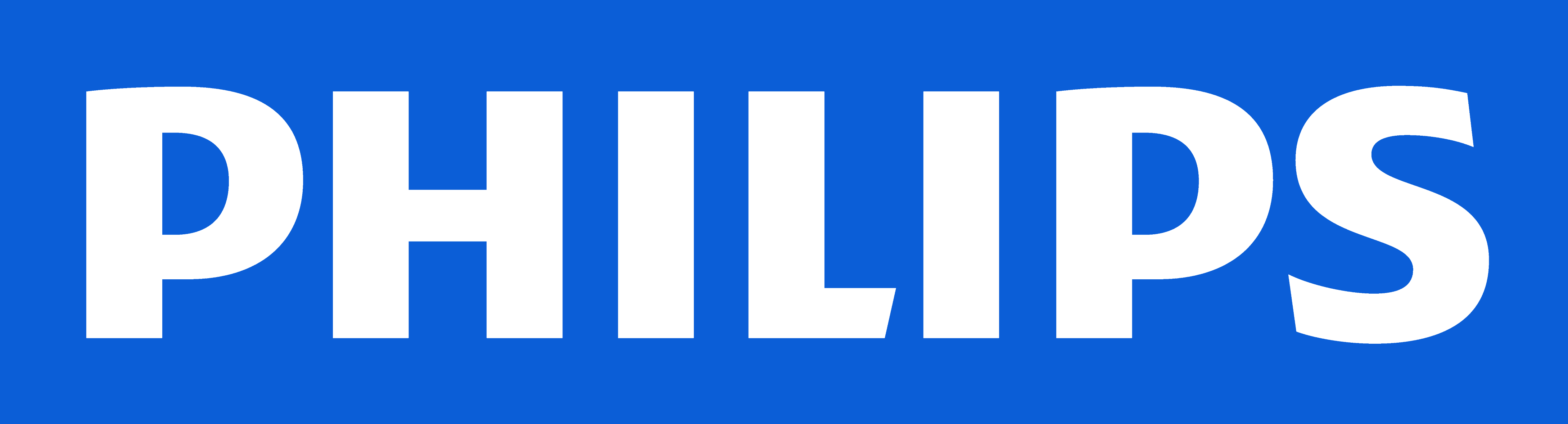 Philips Logo, White Blue - Philips, Transparent background PNG HD thumbnail