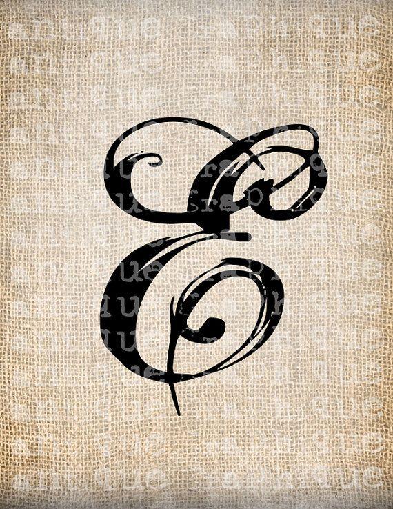 Png Alphabet Letter E On Burlap - Antique Letter E Script Monogram Digital Download For Dictionary Pages, Papercrafts, Transfer, Pillows, Transparent background PNG HD thumbnail
