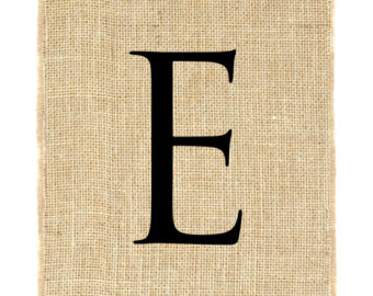 Png Alphabet Letter E On Burlap - Letter E Unframed, Burlap Print, Burlap Art, Monogram, Alphabet, Burlap Wall, Transparent background PNG HD thumbnail