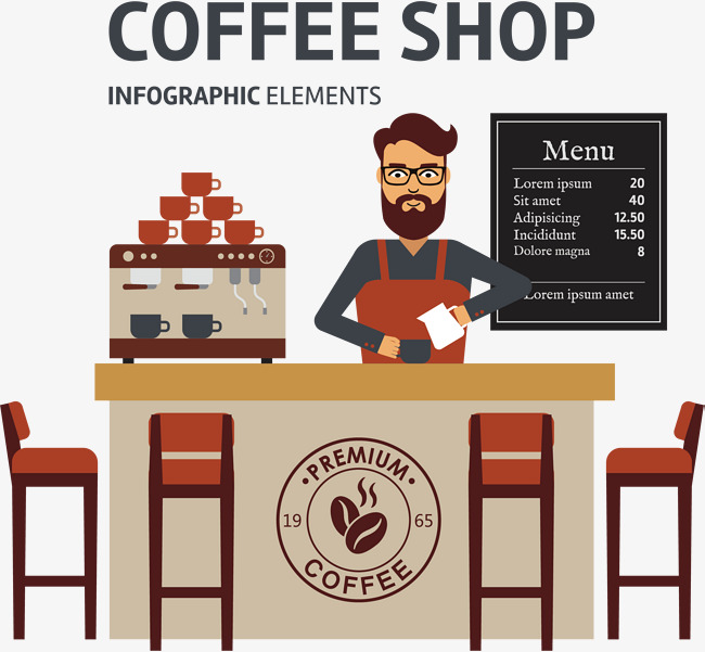 Png Coffee Shop - Coffee Shop Vector, Hand, Coffee, Coffee Bean Png And Vector, Transparent background PNG HD thumbnail