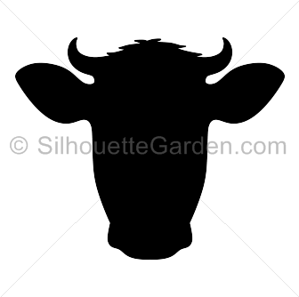 Png Cow Head - Cow Head Silhouette Clip Art. Download Free Versions Of The Image In Eps, Jpg, Transparent background PNG HD thumbnail