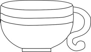 PNG Cup Black And White