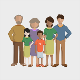 Png Family Of 6 - Family Sizes 6, Transparent background PNG HD thumbnail