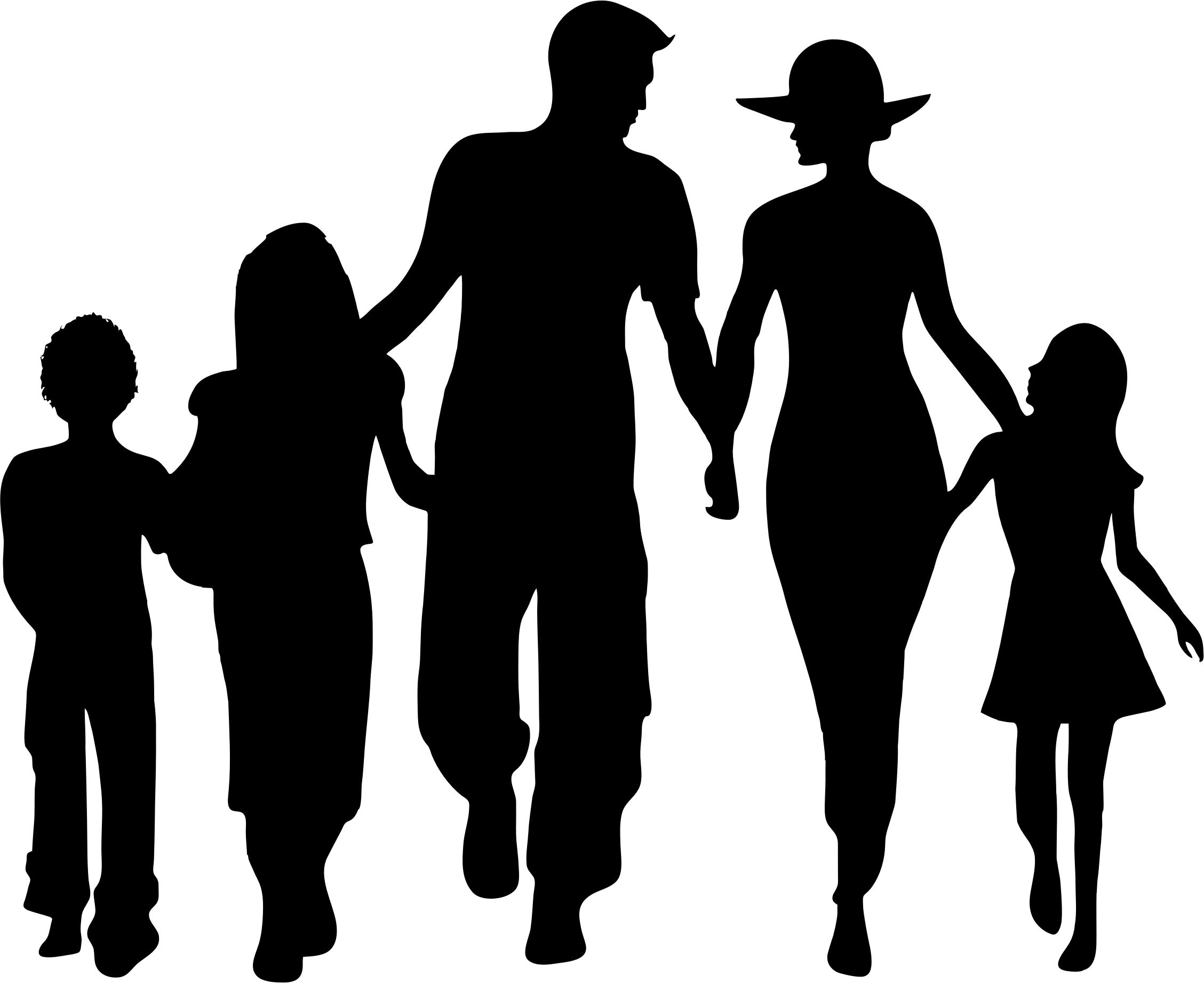 Family Silhouette - Family Picture, Transparent background PNG HD thumbnail