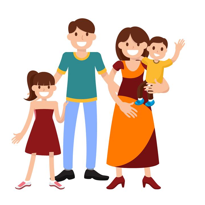 Mutlu Bir Aile Aile Çocuklar Gülümseyen Mutlu Anne - Family Picture, Transparent background PNG HD thumbnail