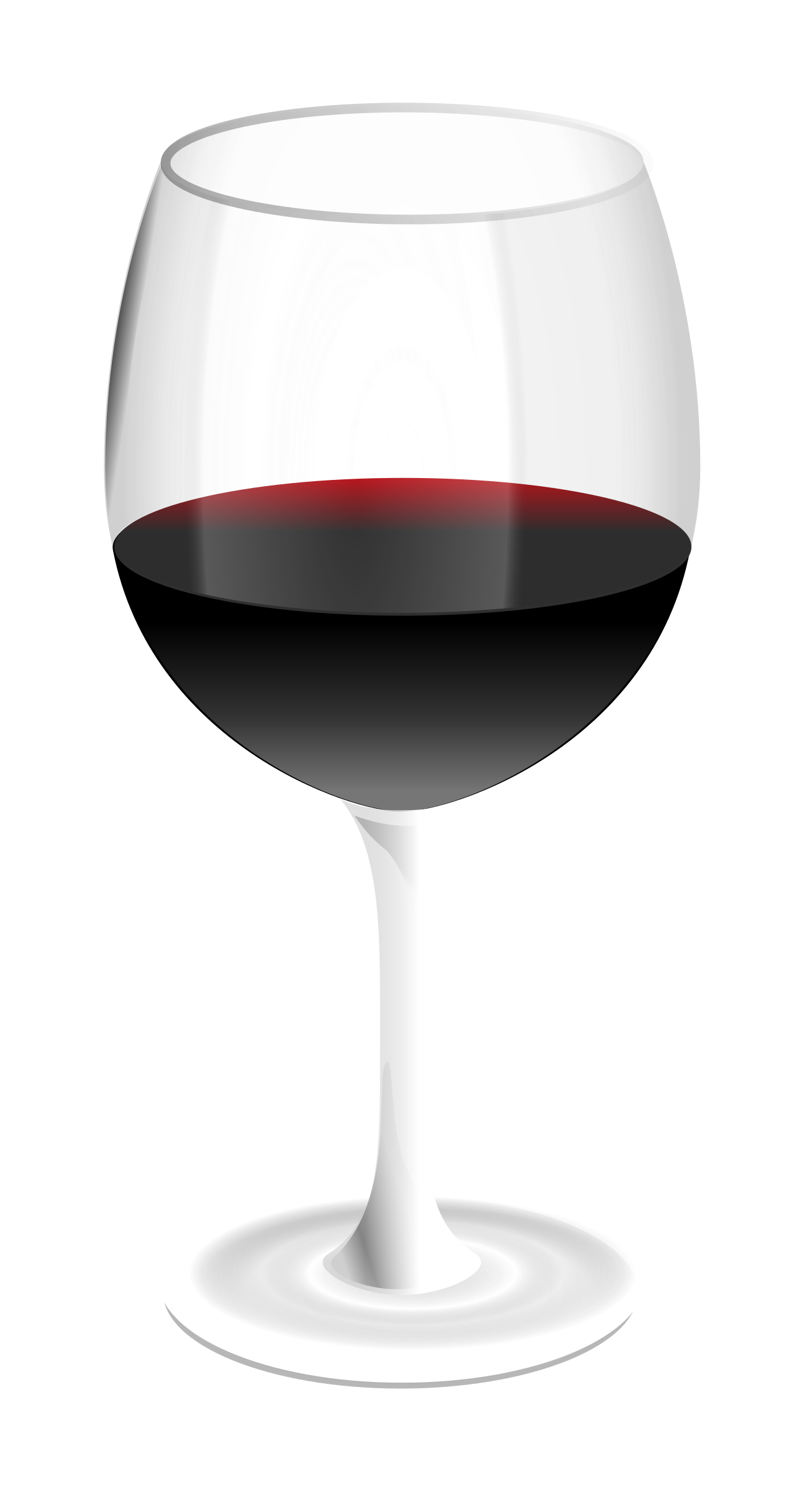 Big Image (Png) - Glass Of Wine, Transparent background PNG HD thumbnail