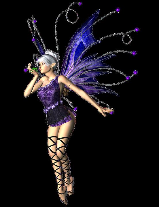 Niña Mujer De Hadas Elf Alas 3D Png - Hadas Gratis, Transparent background PNG HD thumbnail