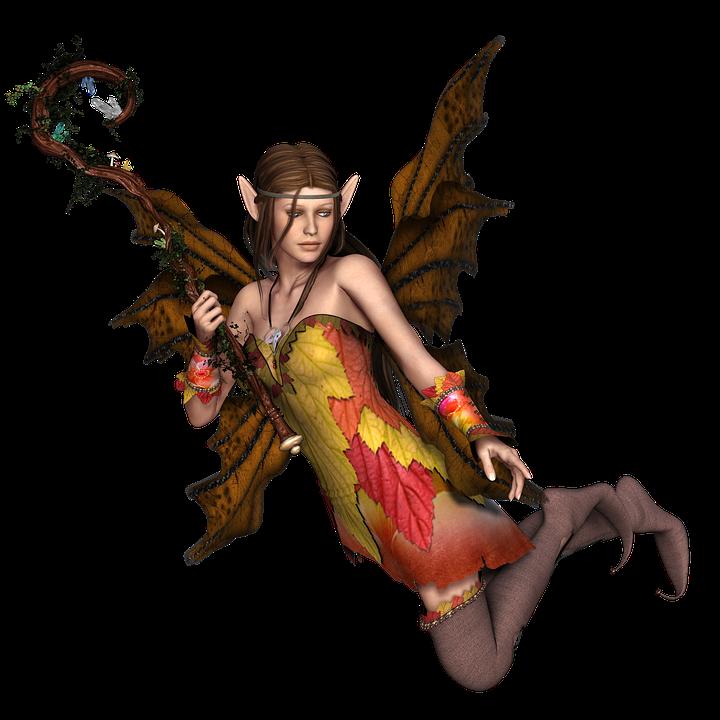Niña Mujer De Hadas Elf Alas 3D Que Vuelan Png - Hadas Gratis, Transparent background PNG HD thumbnail