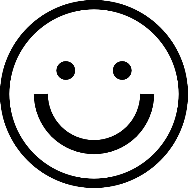 PNG Happy Face Black And White