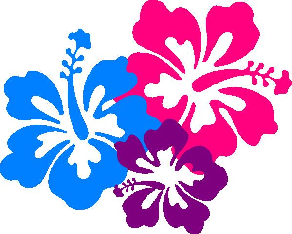 Hawaiian Flower Border Clip Art - Hawaiian Flower, Transparent background PNG HD thumbnail