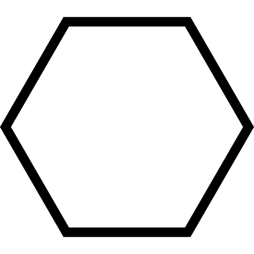 Hexagon Geometrical Shape Outline Free Icon - Hexagon Shape, Transparent background PNG HD thumbnail