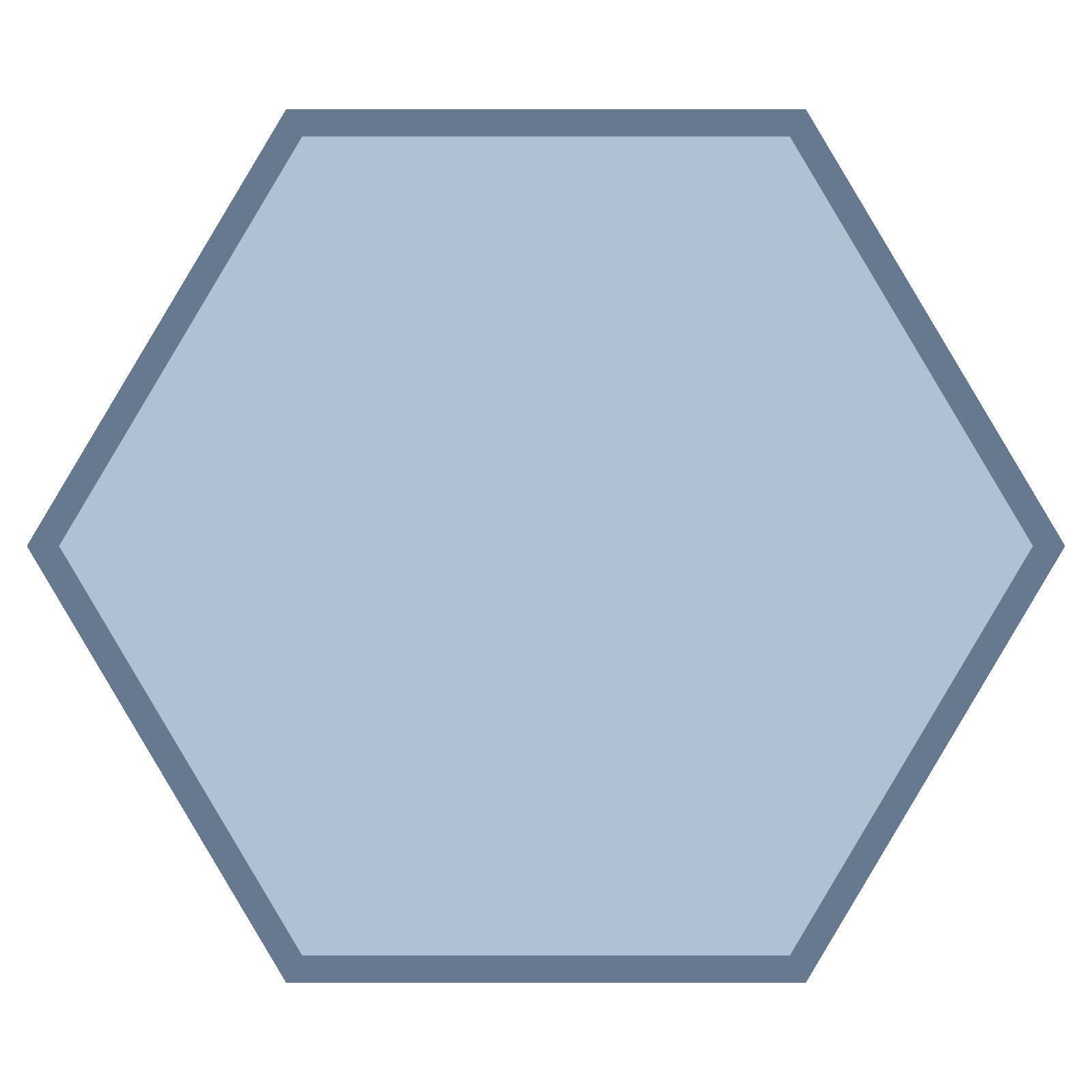 Hexagon Icon - Hexagon Shape, Transparent background PNG HD thumbnail