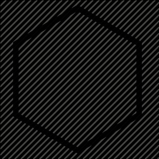 Hexagon, Shape Icon - Hexagon Shape, Transparent background PNG HD thumbnail