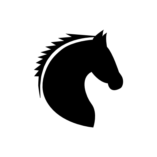 Free Icons Png:horse Head Icon - Horse Head, Transparent background PNG HD thumbnail