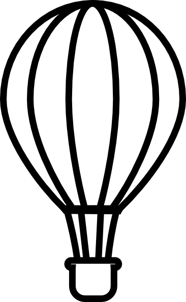 Png Hot Air Balloon Black And White - Download This Image As:, Transparent background PNG HD thumbnail