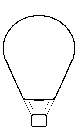 Hot Air Balloon Black And White Hot Air Balloon Clip Art Black And White Free - Hot Air Balloon Black And White, Transparent background PNG HD thumbnail