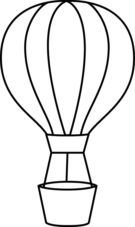 Png Hot Air Balloon Black And White - Hot Air Balloon Black And White Hot Air Balloon Clipart Black And White Free 3, Transparent background PNG HD thumbnail