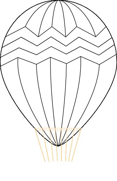 Png Hot Air Balloon Black And White - Hot Air Balloon Black And White Svg Clip Arts 384 X 595 Px, Transparent background PNG HD thumbnail