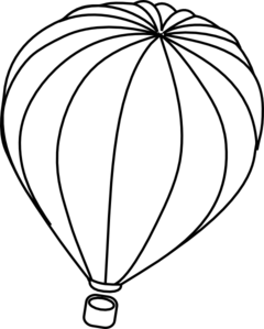 Png Hot Air Balloon Black And White - Hot Air Balloon Outline Clip Art, Transparent background PNG HD thumbnail