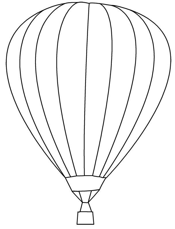 Hot Air Balloon Template   Bing Images - Hot Air Balloon Black And White, Transparent background PNG HD thumbnail