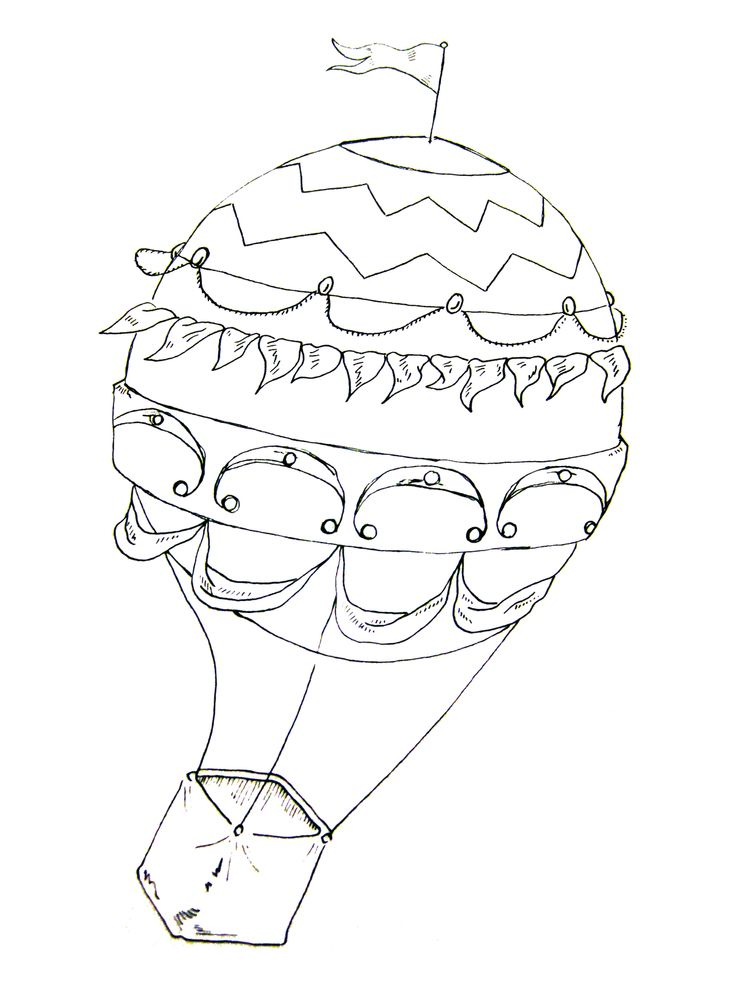 I Just Finished An Illustration Of A Hot Air Balloon. A Simple Photograph Brought To Black U0026 White In Photoshop. - Hot Air Balloon Black And White, Transparent background PNG HD thumbnail