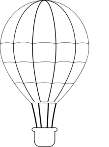 Pin Black U0026 White Clipart Hot Air Balloon #11 - Hot Air Balloon Black And White, Transparent background PNG HD thumbnail