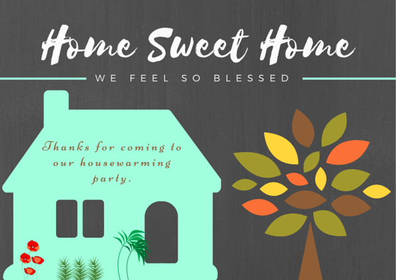 Housewarming Thank You Card - House Warming Party, Transparent background PNG HD thumbnail