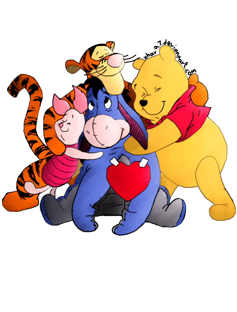 . Hdpng.com 100 Acre Hug Of Winnie The Pooh And Friends By Zhar97 - Hugs Friends, Transparent background PNG HD thumbnail