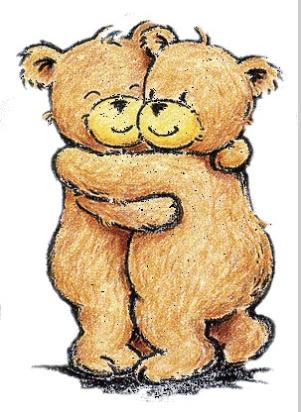 Teddy Bear Hug - Hugs Friends, Transparent background PNG HD thumbnail