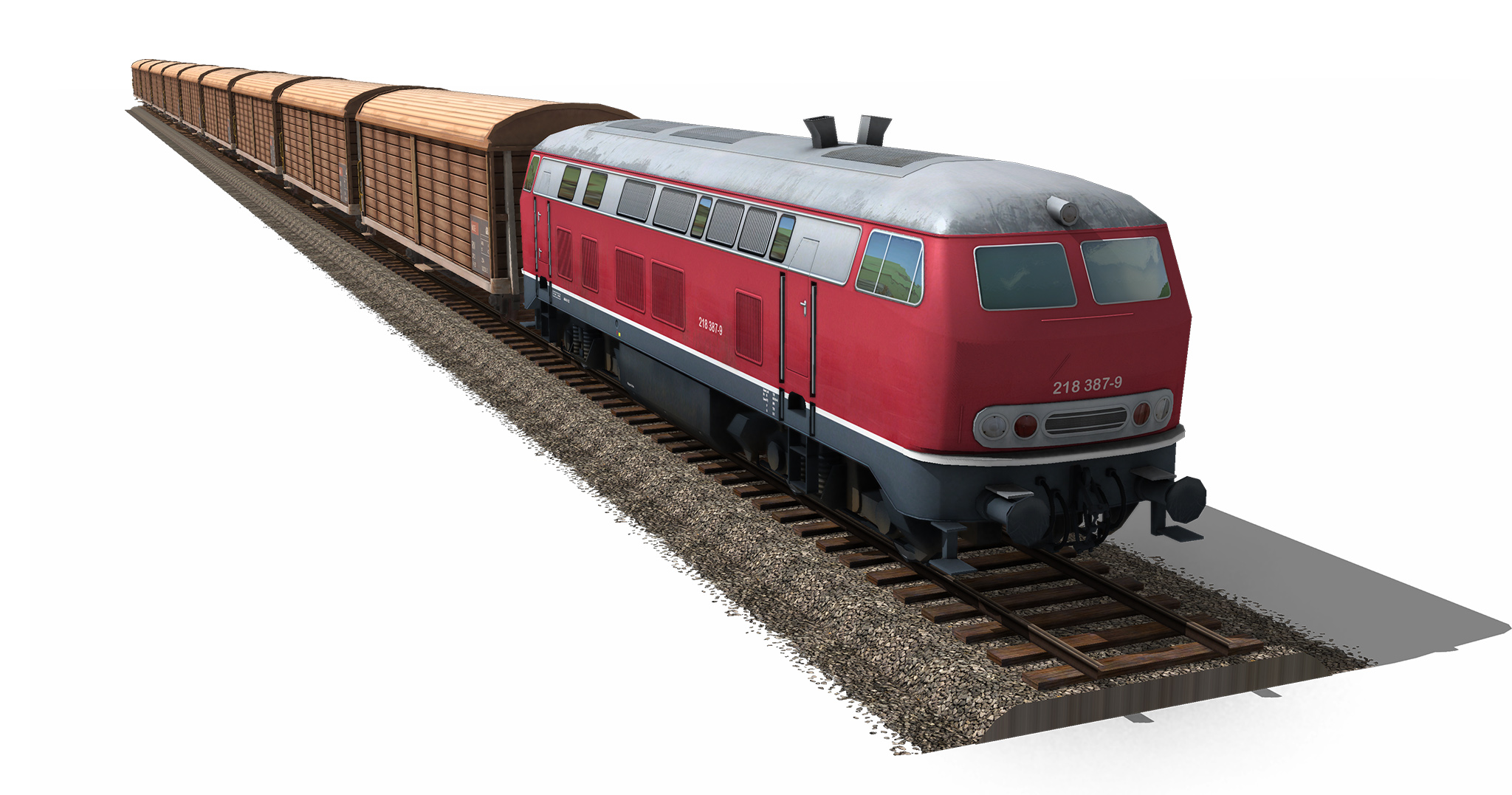Png Image Of Train - Train_Br_218_Cargo_Camera_0, Transparent background PNG HD thumbnail