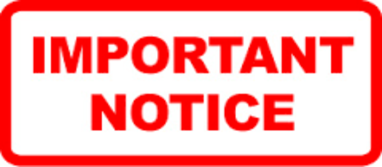 Png Important Notice - Importance Notice Slalom Will Be Holding Their State Champs On Sunday From 9Am To 4Pm At Walyunga   Paddle Wa, Transparent background PNG HD thumbnail