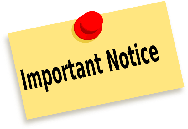 Png Important Notice - Png: Small · Medium · Large, Transparent background PNG HD thumbnail