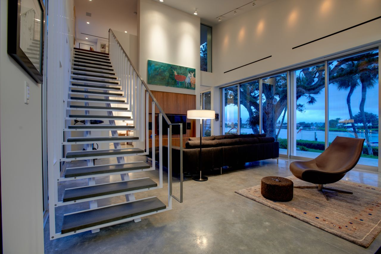 Barrier Island House,© Bruce Cole - Inside House, Transparent background PNG HD thumbnail