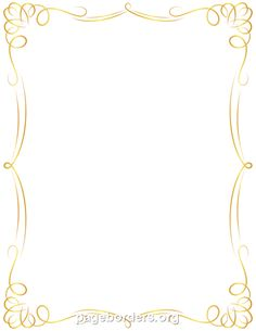 Free Golden Border Templates Including Printable Border Paper And Clip Art Versions. File Formats Include Gif, Jpg, Pdf, And Png. - Invitation Borders, Transparent background PNG HD thumbnail