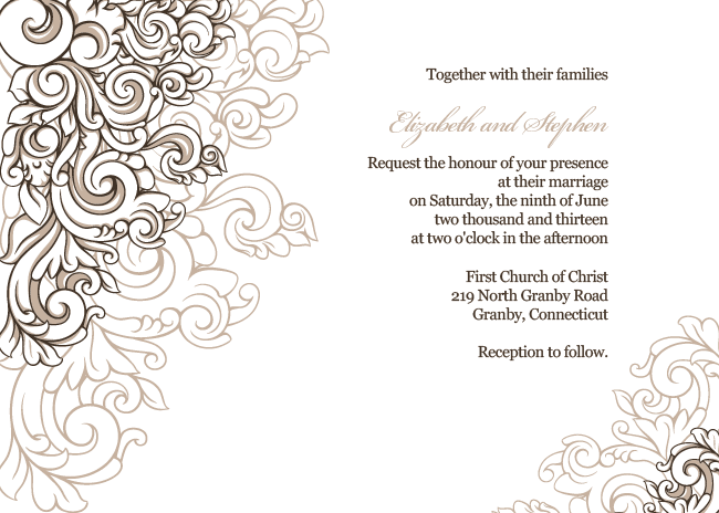 Wedding Invitation Borders As Perfect Style To Create Beautiful Wedding Invitation Sample - Invitation Borders, Transparent background PNG HD thumbnail
