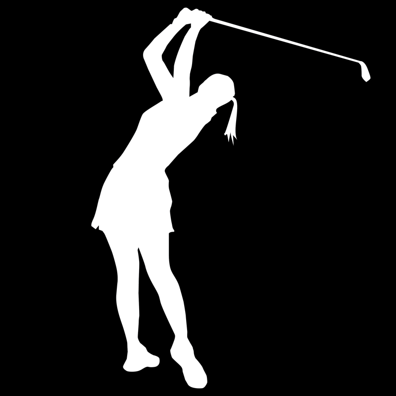 Png Lady Golfer - Female Golfer 2, Transparent background PNG HD thumbnail