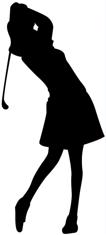 Png Lady Golfer - Girl Golf Clip Art Girlgolfshadow.jpg (680×1500), Transparent background PNG HD thumbnail