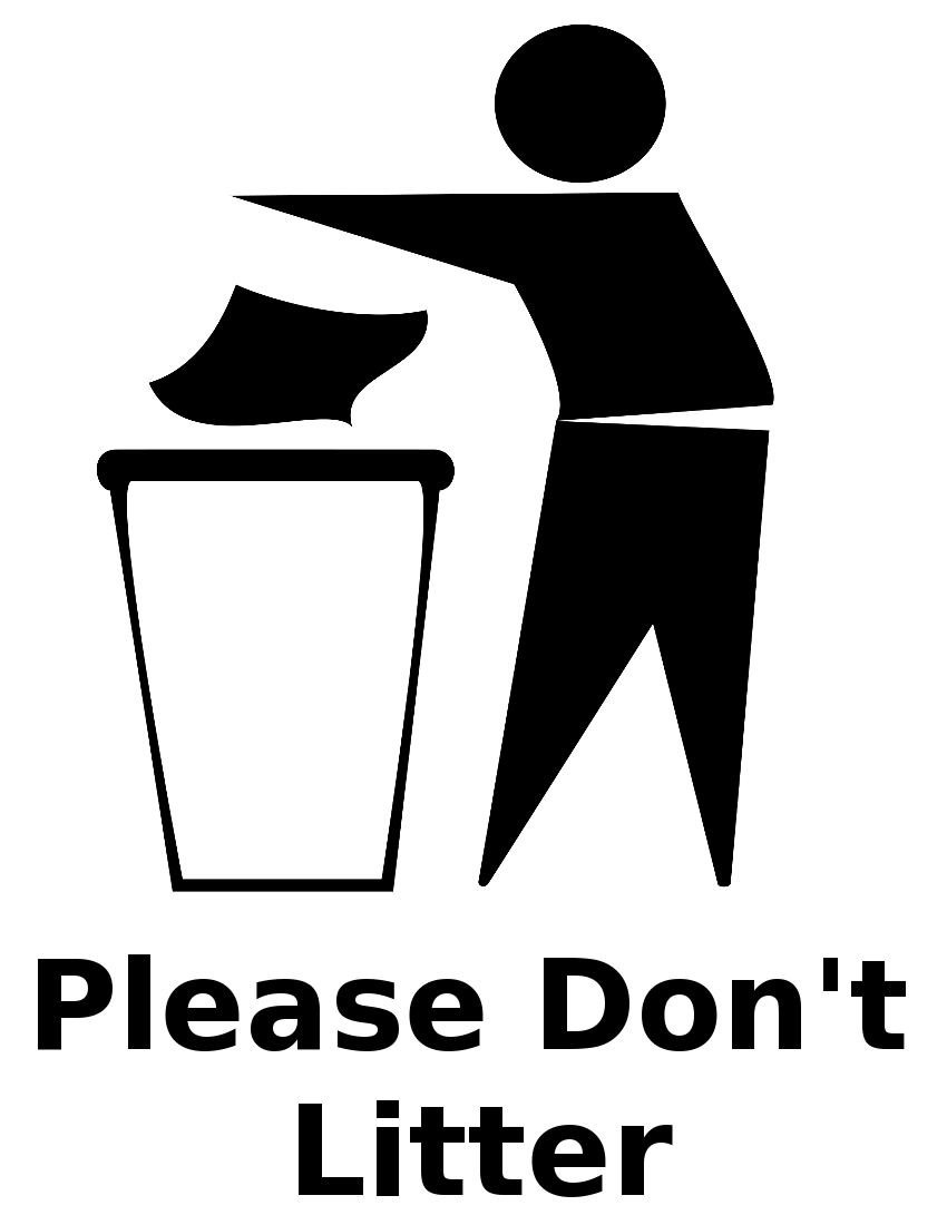 Trash Bin Sign   /signs_Symbol/ecology/recycle/litter/trash_Bin_Sign.png .html - Litter, Transparent background PNG HD thumbnail