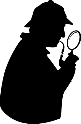 Png Magnifying Glass Detective - Detective With Pipe And Magnifying Glass, Transparent background PNG HD thumbnail