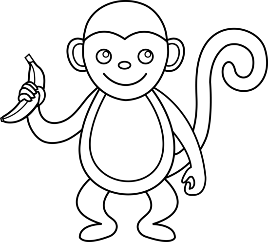 PNG Monkey Black And White