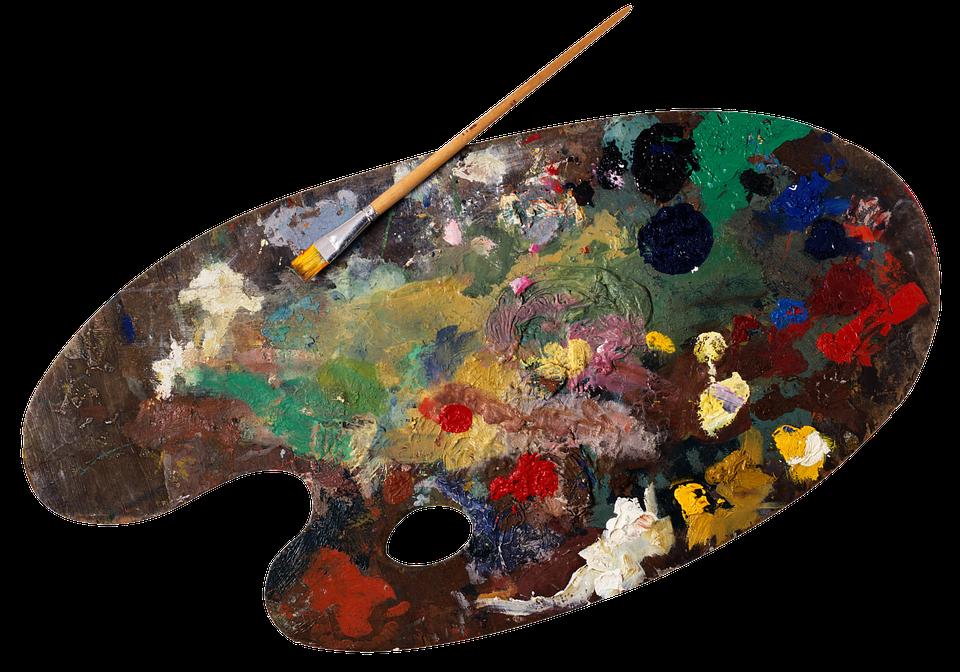 Png Paint Palette - Palette, Paint, Oil, Painting, Painter, Art, Brush, Transparent background PNG HD thumbnail