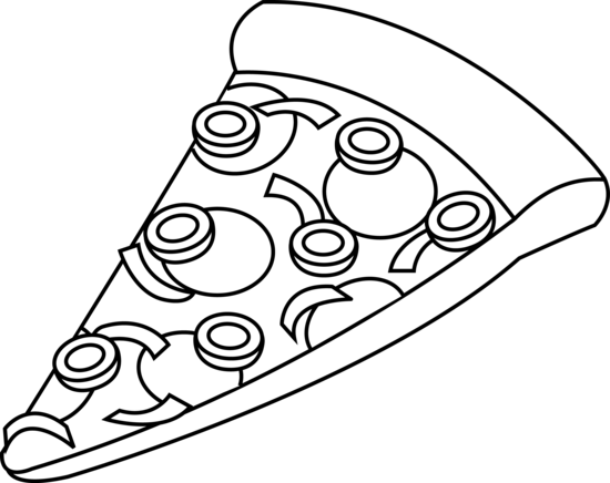PNG Pizza Black And White