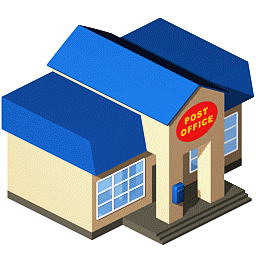 256X256 - Post Office, Transparent background PNG HD thumbnail