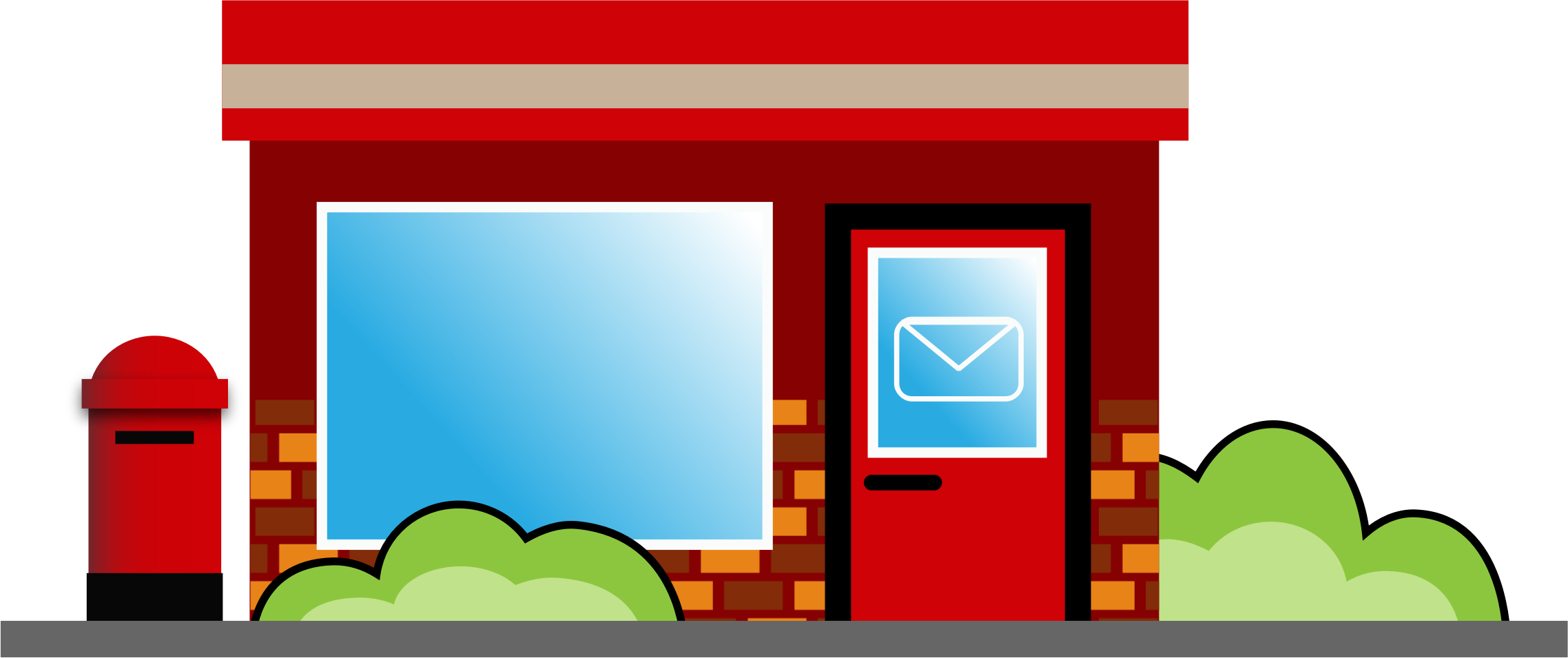 Big Image (Png) - Post Office, Transparent background PNG HD thumbnail