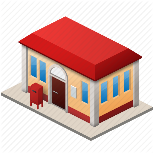 Business, Lease, Office, Post, Post Office, Postal, Rent Icon - Post Office, Transparent background PNG HD thumbnail