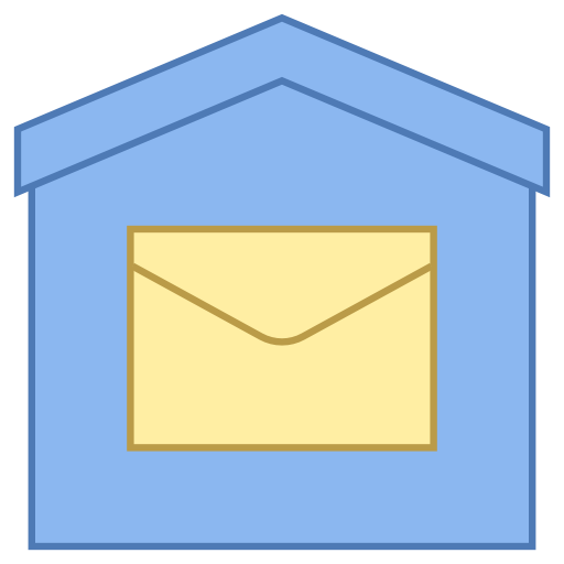 Post Office Icon - Post Office, Transparent background PNG HD thumbnail
