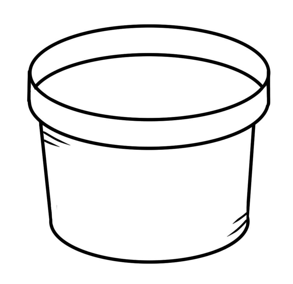 PNG Pot Black And White
