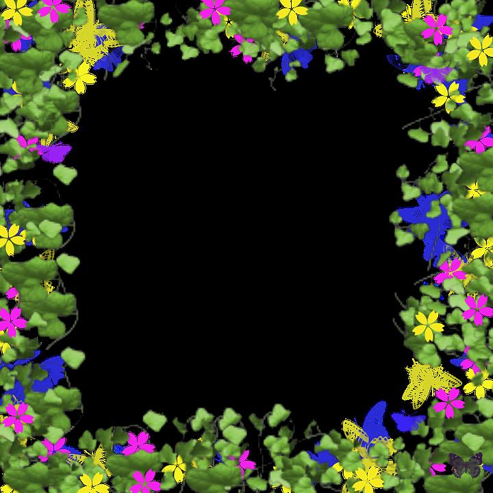 PNG Rammer Med Blomster
