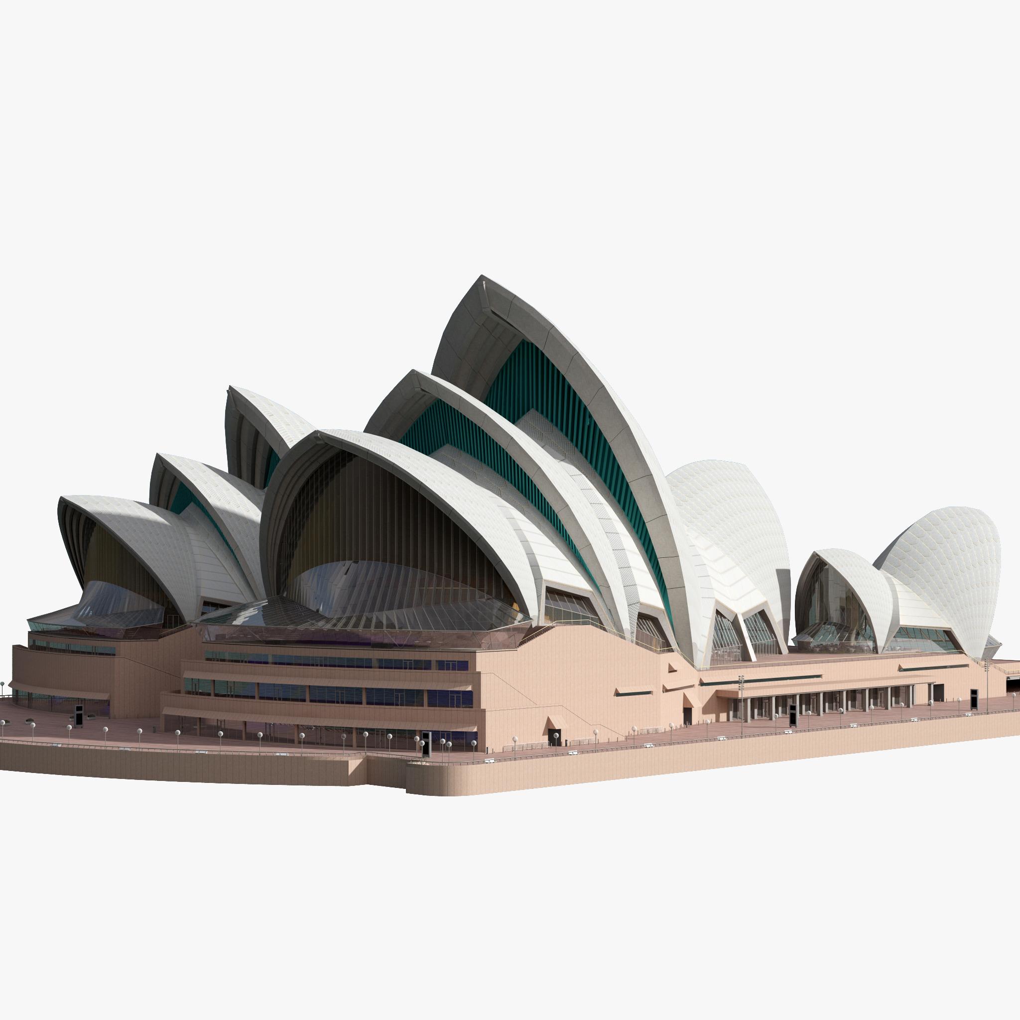 Png Sydney Opera House - 3D Model Sydney Opera House, Transparent background PNG HD thumbnail