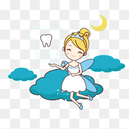 Tooth Fairy, Cartoon, Tooth, Dentist Png And Vector - Tooth Fairy, Transparent background PNG HD thumbnail